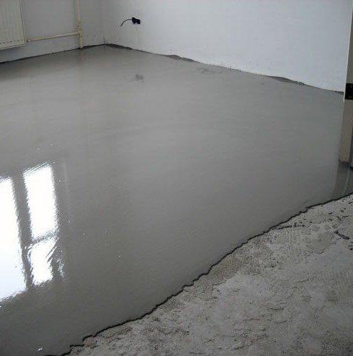 как выровнять бетонный пол под