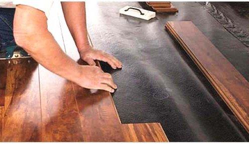 Укладка ламината на деревянный